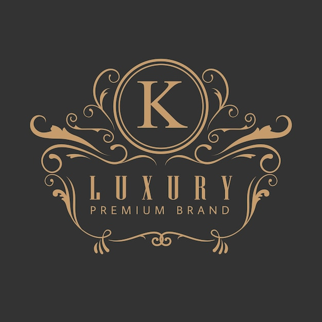 Luxus elegantes vintage logo Premium Vektoren