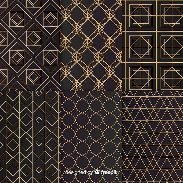 Luxus geometrische mustersammlung Kostenlosen Vektoren