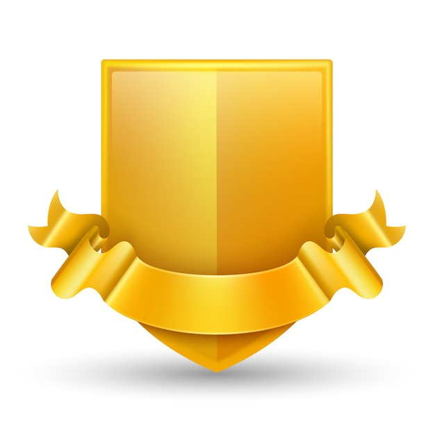 Luxus gold abzeichen vektor-illustration. Premium Vektoren