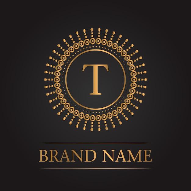 Luxus Gold Vorlage Monogramm | Download der kostenlosen Vektor