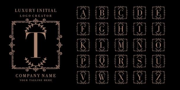Luxus initial logo design Premium Vektoren