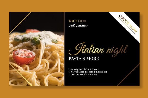 Luxus italienische lebensmittel banner druckvorlage Kostenlosen Vektoren
