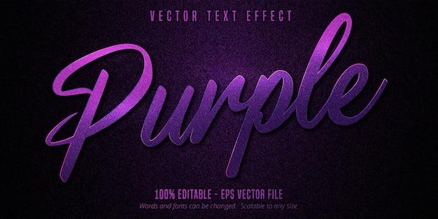 Luxus lila bearbeitbarer texteffekt Premium Vektoren