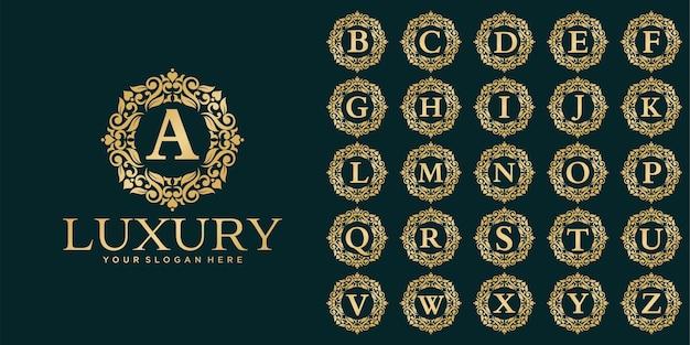 Luxus-logo-design, anfangsbuchstaben-set-vorlage Premium Vektoren