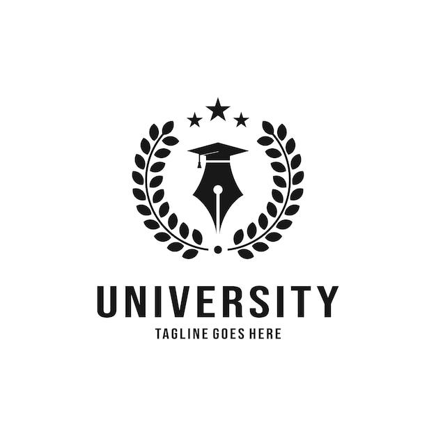 Luxus-logo-design der universität Premium Vektoren