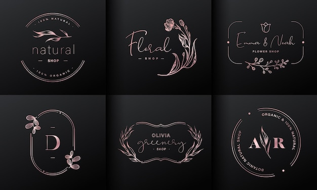 Luxus logo design kollektion Kostenlosen Vektoren