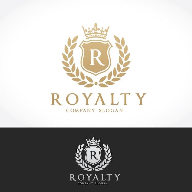 Luxus-logo. wappen logo logo-design für hotel, resort, restaurant, immobilien, spa, fashion brand identity Premium Vektoren