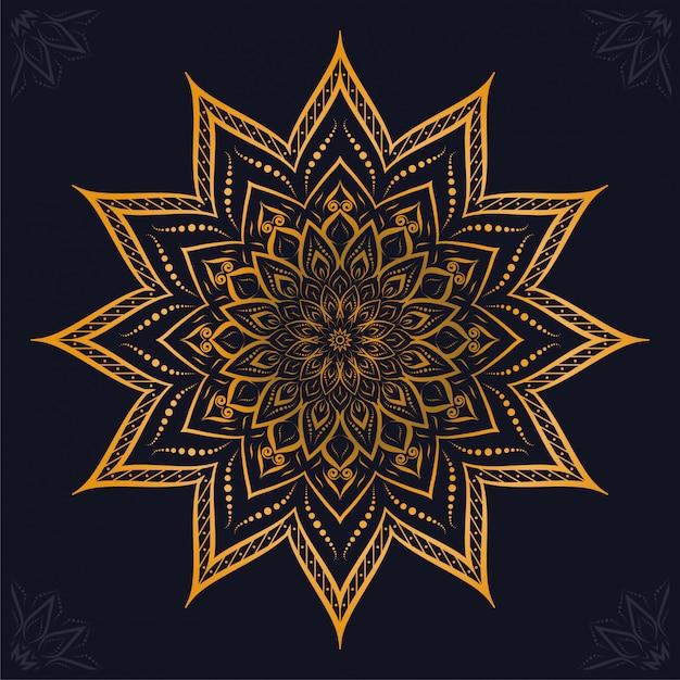 Luxus-mandala-arabesken-zierhintergrund Premium Vektoren