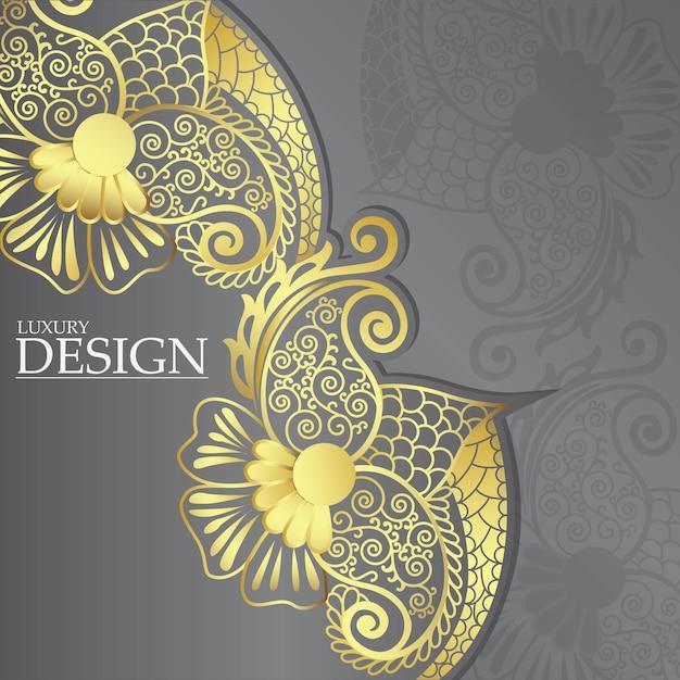 Luxus-mandala-design Premium Vektoren