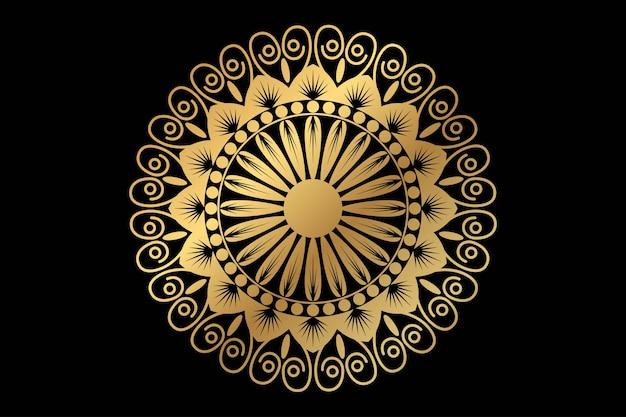 Luxus-mandala-hintergrund mit arabischem islamischen oststil des goldenen arabeskenmusters Premium Vektoren
