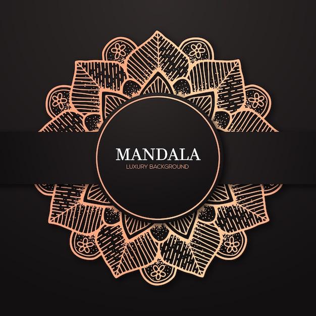Luxus mandala hintergrund Premium Vektoren