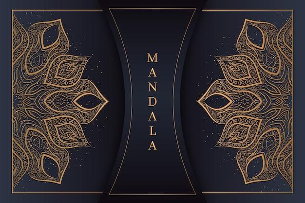 Luxus mandala hintergrund Kostenlosen Vektoren