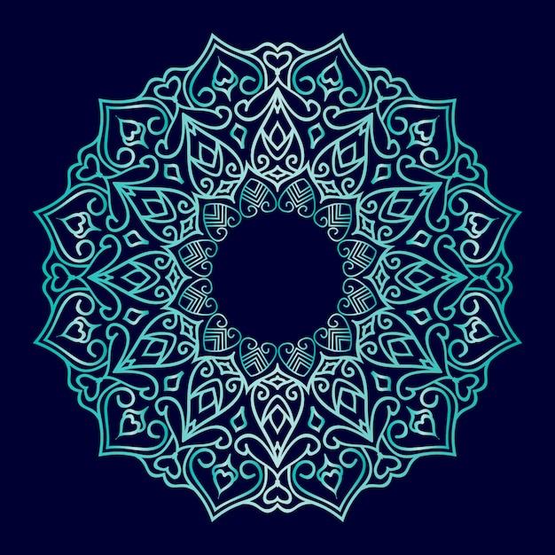 Luxus mandala ornament design Premium Vektoren
