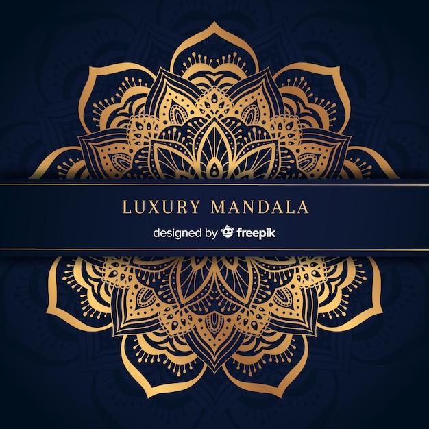 Luxus-mandala Kostenlosen Vektoren