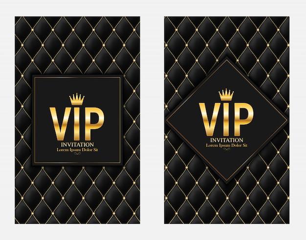Luxus-mitglieder, gift card vip einladung Premium Vektoren