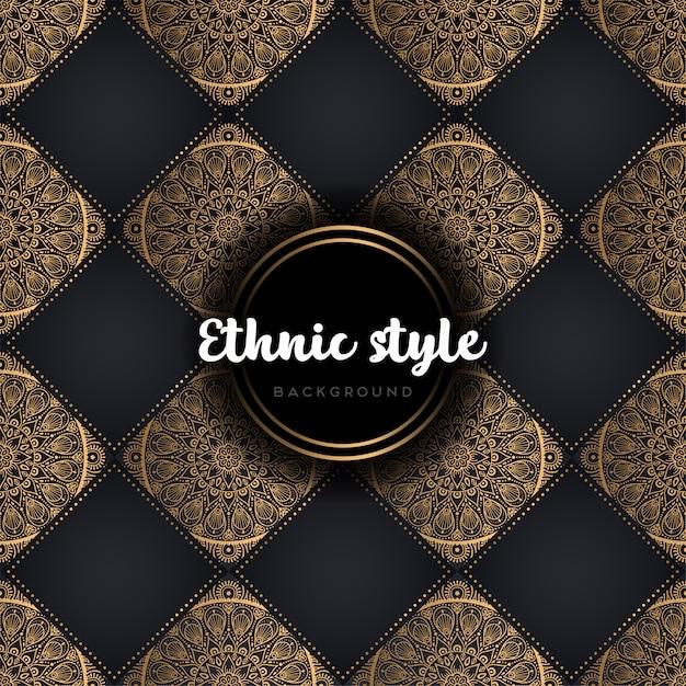 Luxus nahtlose muster mandala Kostenlosen Vektoren