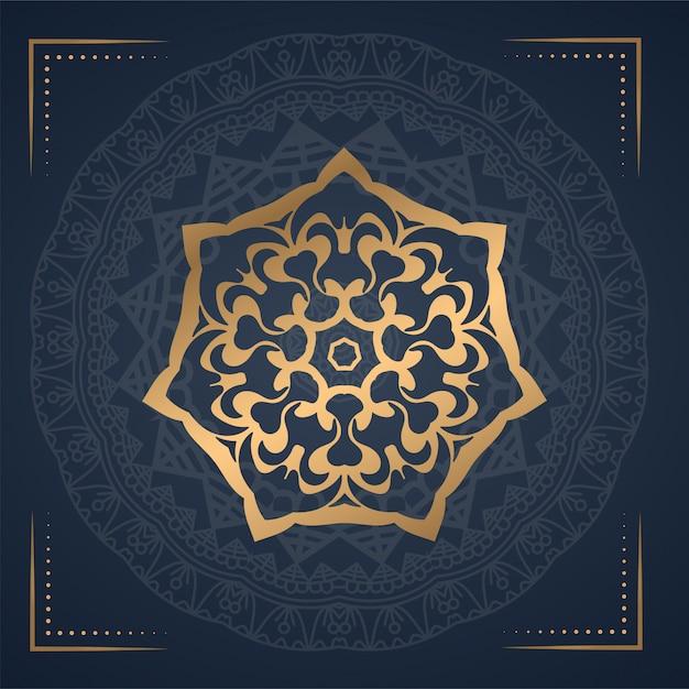 Luxus ornament mandala hintergrund Premium Vektoren