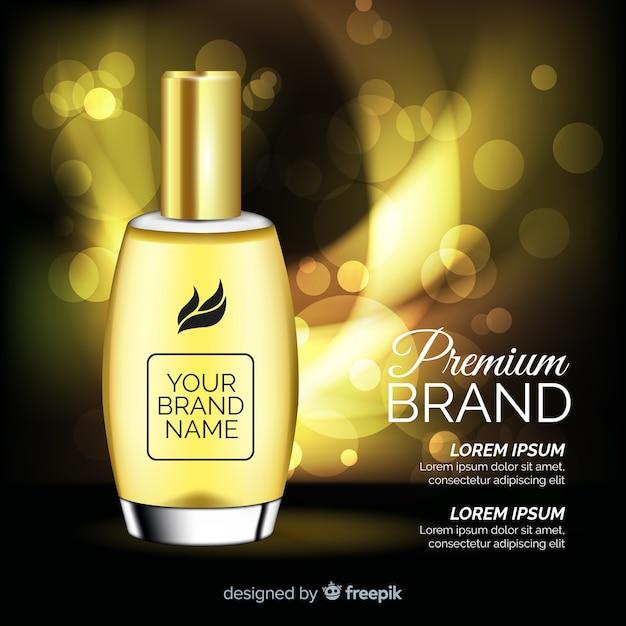 Luxus-parfüm-anzeige Kostenlosen Vektoren