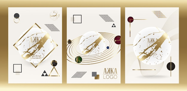 Luxus premium cover menu design geometric Premium Vektoren