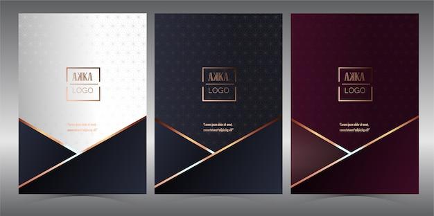 Luxus premium cover menü geometrisch Premium Vektoren