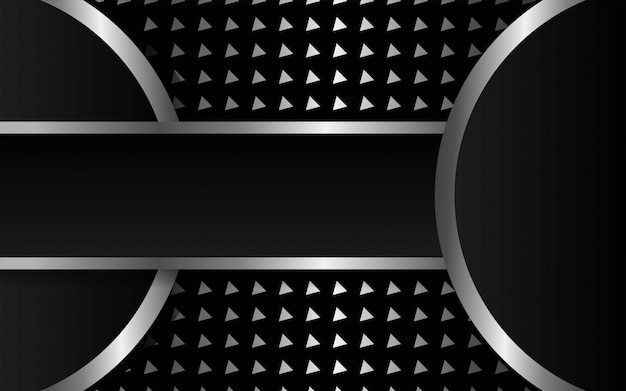 Luxus premium dunklen abstrakten vektor hintergrund. überlappende ebenen mit papiereffekt. digitale vorlage. realistischer lichteffekt auf strukturierten dreieckigen silbernen hintergrund. Premium Vektoren