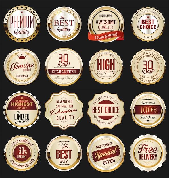 Luxus premium goldene abzeichen Premium Vektoren