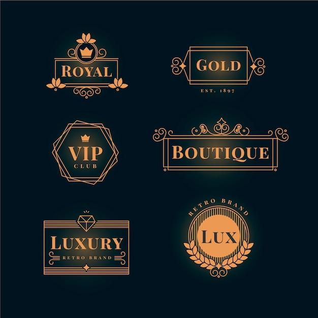 Luxus retro-logo-auflistung Kostenlosen Vektoren