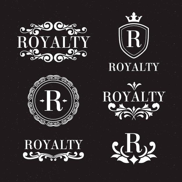 Luxus retro-logo festgelegt Kostenlosen Vektoren