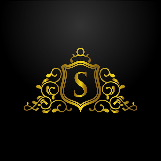 Luxus schild logo Premium Vektoren