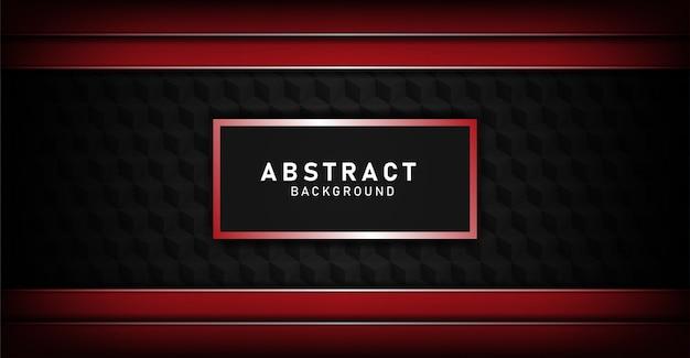 Luxus schwarz überlappen layerslu hintergrund mit rote linie Premium Vektoren