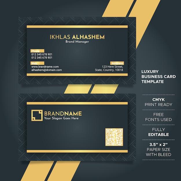Luxus schwarz und golden visitenkarte vorlage Premium Vektoren