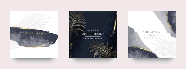 Luxus soziale geschichte und post-cover-design Premium Vektoren