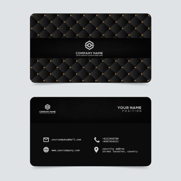 Luxus- und elegante goldvisitenkarteschablone Premium Vektoren