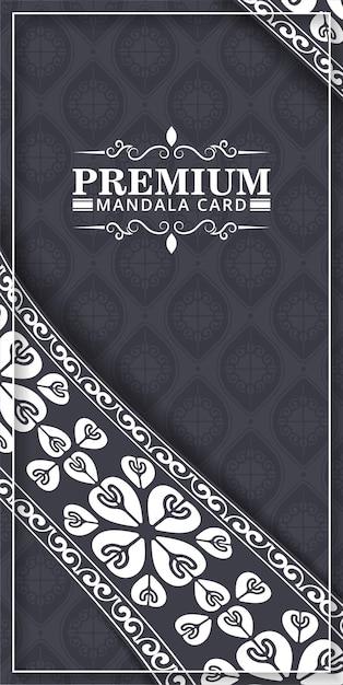 Luxus vintage grußkarte mit randmotiv Premium Vektoren