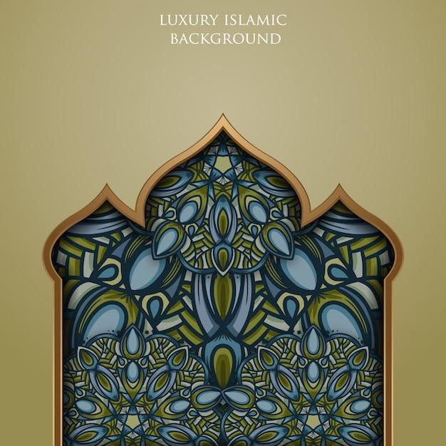 Luxus vintage islamische hintergrundillustration Premium Vektoren