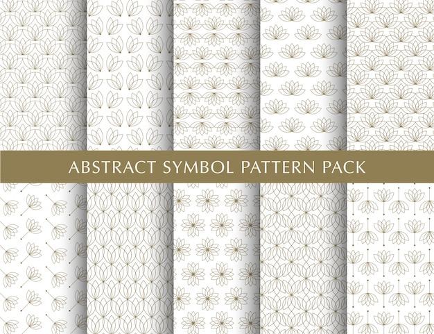 Luxus vintage pattern pack Premium Vektoren