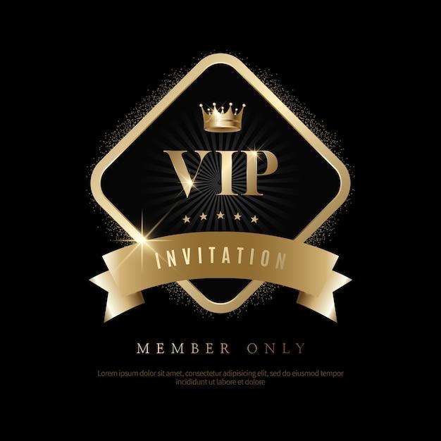Luxus vip-einladungen und coupon-hintergründe Premium Vektoren