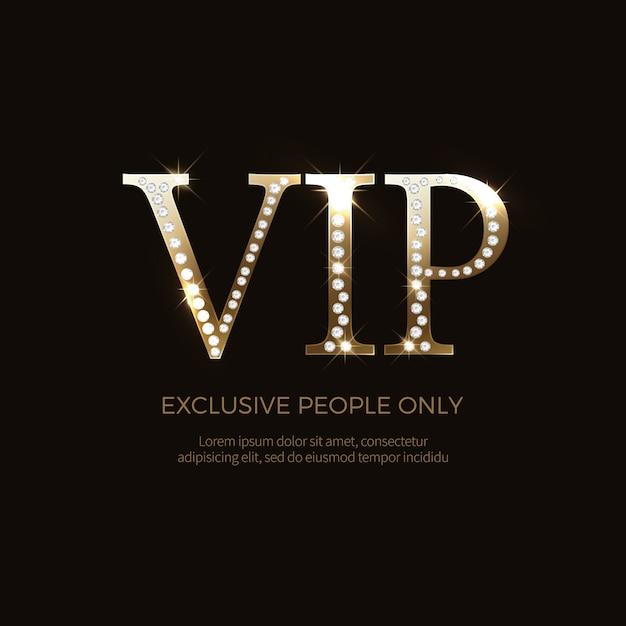 Luxus vip-etiketten und objekte Premium Vektoren