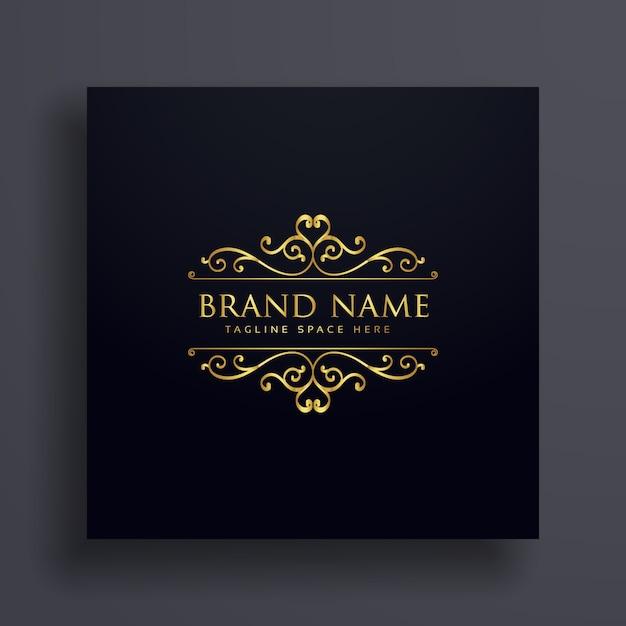 Luxus-vip-logo-konzept für ihre marke mit blumendekoration Kostenlosen Vektoren