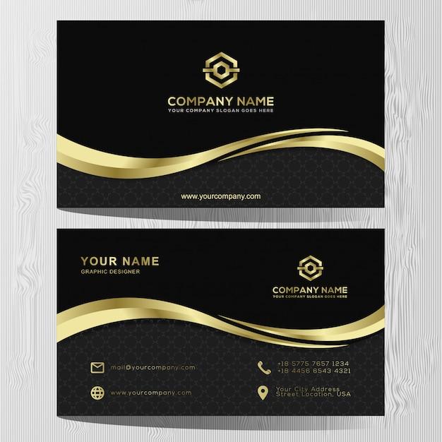 Luxus visitenkarte gold und silber vorlage Premium Vektoren