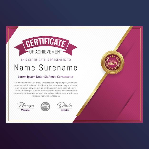 Luxus-zertifikatvorlagendesign Premium Vektoren