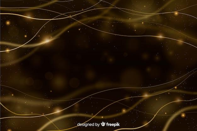 Luxushintergrund mit goldenen partikeln Kostenlosen Vektoren