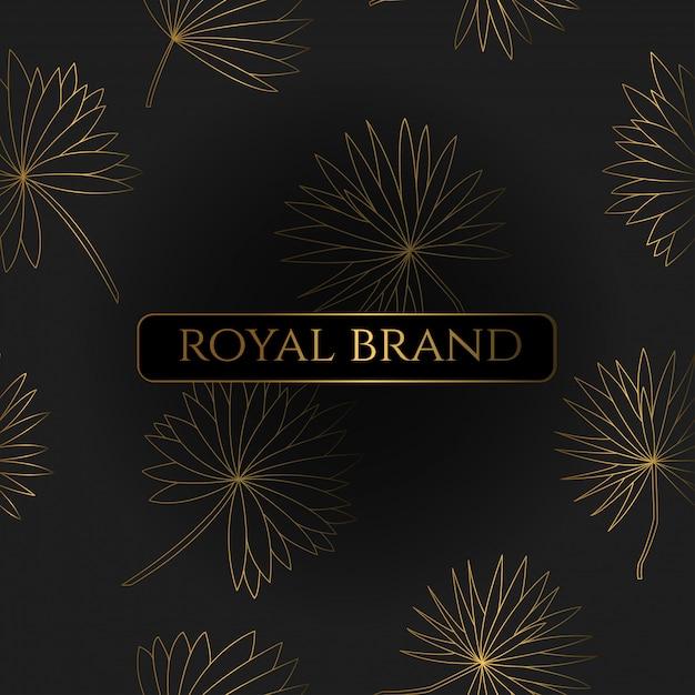 Luxushintergrund mit goldfarbe Premium Vektoren
