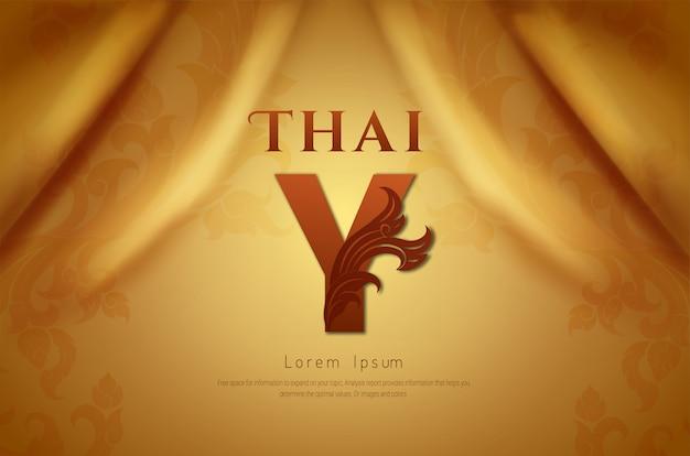 Luxushintergrund, traditionelles thailändisches konzept. Premium Vektoren
