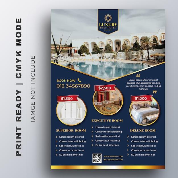 Luxushotel-schablone für plakat, flieger, design-schablone Premium Vektoren