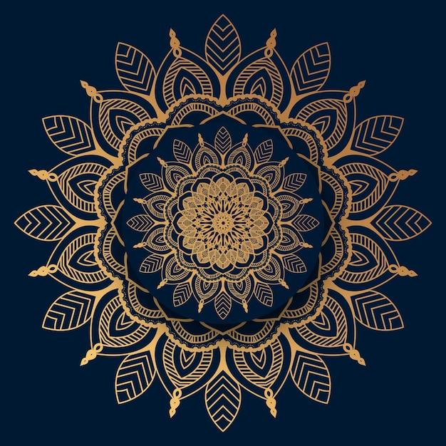 Luxusmandala mit goldenem islamischem muster Premium Vektoren