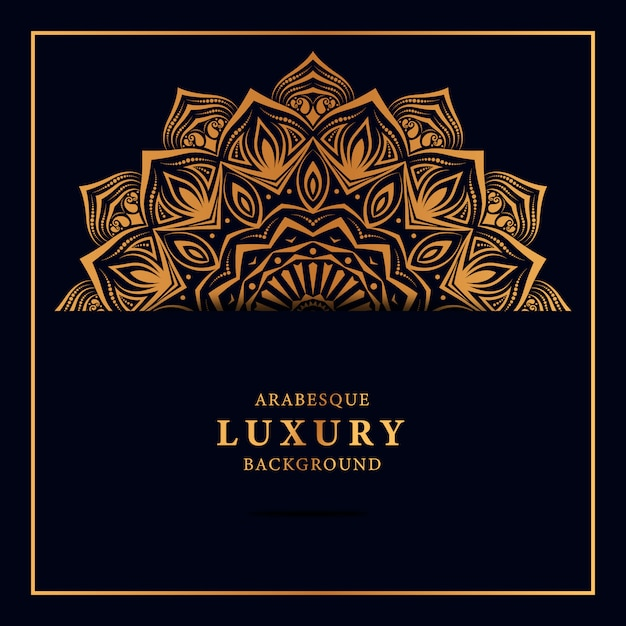 Luxusmandalahintergrund mit islamischem muster der goldenen arabeske Premium Vektoren