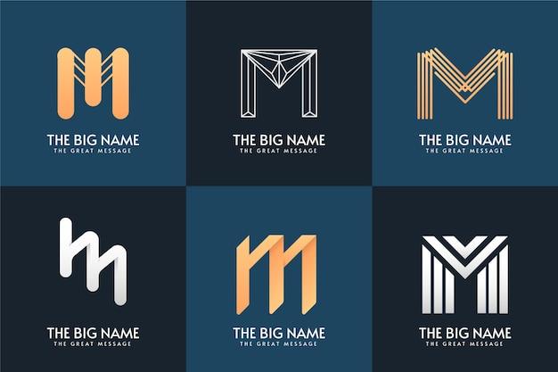 M brief logo sammlung design Kostenlosen Vektoren