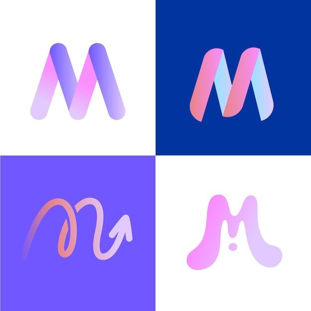 M logo gesetzt Kostenlosen Vektoren