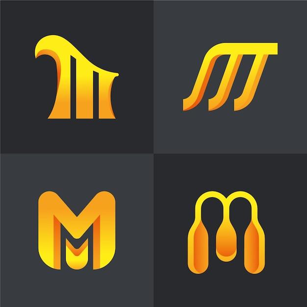 M logo sammlung Kostenlosen Vektoren